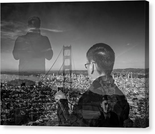 The Tourists - Golden Gate Bridge Canvas Print