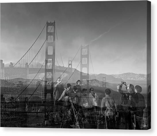 The Tourists - Golden Gate Canvas Print