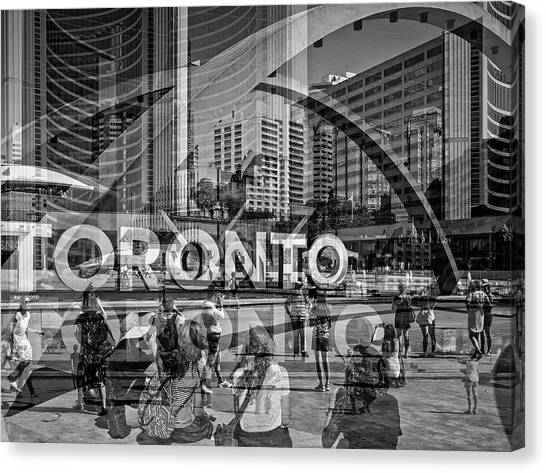 The Tourists - Toronto Canvas Print