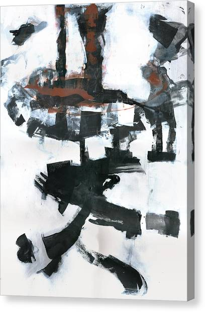 Abstract Expressionism Canvas Print - The Tower by Patricia Ariel