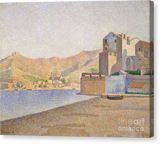 Pointillism Canvas Print - The Town Beach, Collioure by Paul Signac