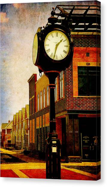the Town Clock Canvas Print