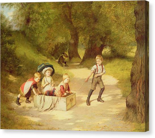 Forest Paths Canvas Print - The Toy Carriage by Harry Brooker