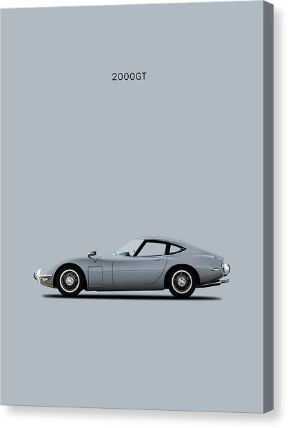 Toyota Canvas Print - The Toyota 2000gt by Mark Rogan
