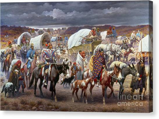 Ponies Canvas Print - The Trail Of Tears by Granger