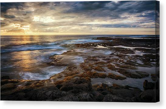 Canvas Print featuring the photograph The Tranquil Seas by Susan Rissi Tregoning
