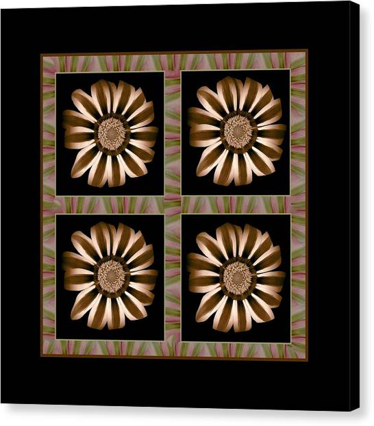The Transformation Of Flower 1 - Stasis Canvas Print by Jacqueline Migell
