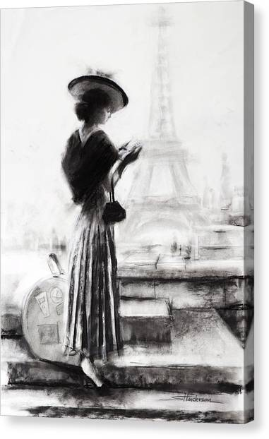 Eiffel Tower Canvas Print - The Traveler by Steve Henderson