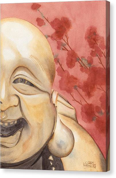 The Travelling Buddha Statue Canvas Print