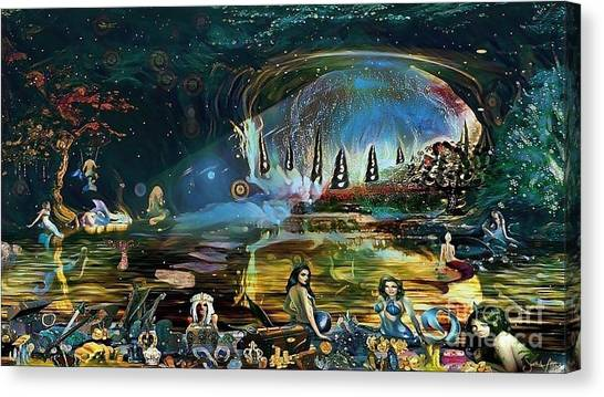 The Treasure Cave Of The Mermaids Canvas Print