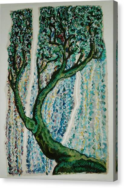 The Tree Energy Canvas Print by Helene  Champaloux-Saraswati
