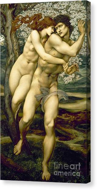 Sexuality Canvas Print - The Tree Of Forgiveness by Sir Edward Burne-Jones