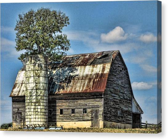 The Tree Silo Canvas Print