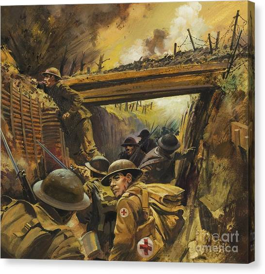 Harsh Conditions Canvas Print - The Trenches by Andrew Howat