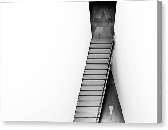 Stairs Canvas Print - The Triangular Tile by Gerard Jonkman