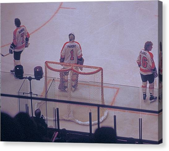 The Triumvirate - Bobby, Bernie, And Billy - Vintage Philadelphia Flyers Canvas Print
