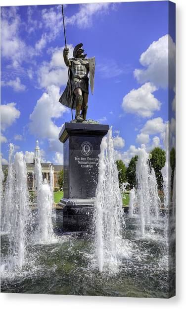 Troy University Troy Canvas Print - The Trojan by JC Findley