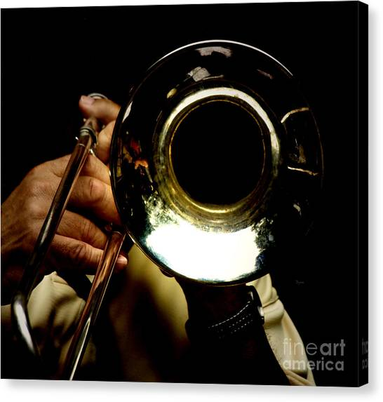 Trombones Canvas Print - The Trombone   by Steven Digman