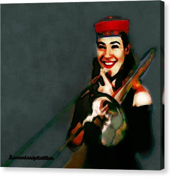 The Trombonist Painting Canvas Print