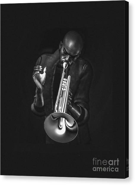 The Trumpet Player Canvas Print