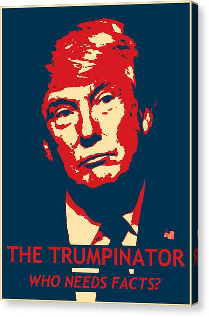 Donald Trump Canvas Print - The Trumpinator by Richard Reeve