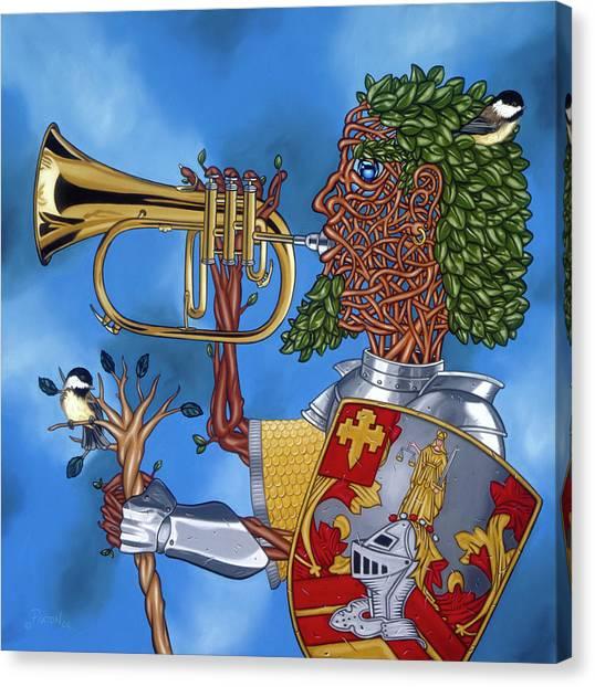 The Trumpiter Canvas Print