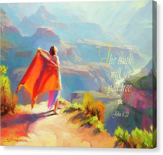 God Canvas Print - The Truth Will Set You Free by Steve Henderson