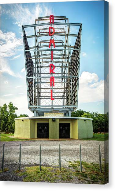 Canvas Print featuring the photograph The Tulsa Admiral Twin Drive-in by Gregory Ballos