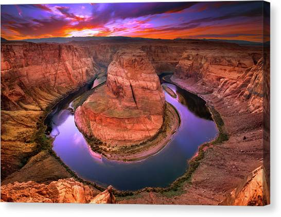 Colorado River Canvas Print - The Turn by Mikes Nature