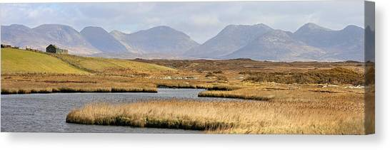 The Twelve Bens Mountains Connemara Ireland Canvas Print