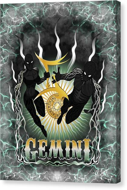 The Twins Gemini Spirits Canvas Print