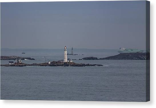 The Two Harbor Lighthouses Canvas Print