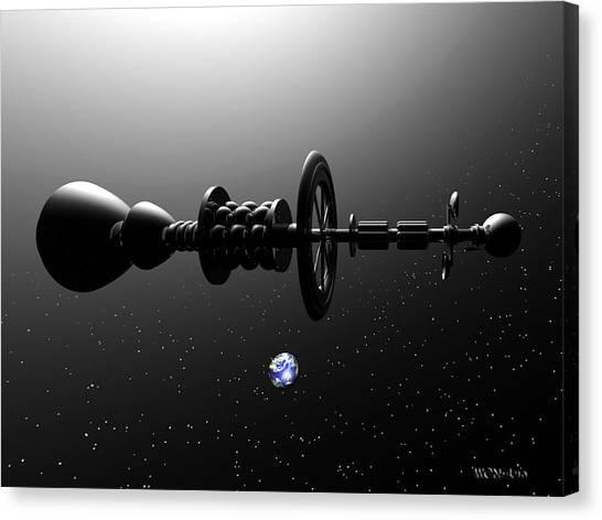 The United Earth Federation Starship Carl Sagan 1 Canvas Print by Walter Neal