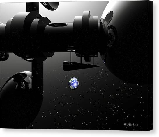 The United Earth Federation Starship Carl Sagan 2 Canvas Print by Walter Oliver Neal