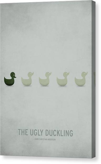 Vintage Canvas Print - The Ugly Duckling by Christian Jackson
