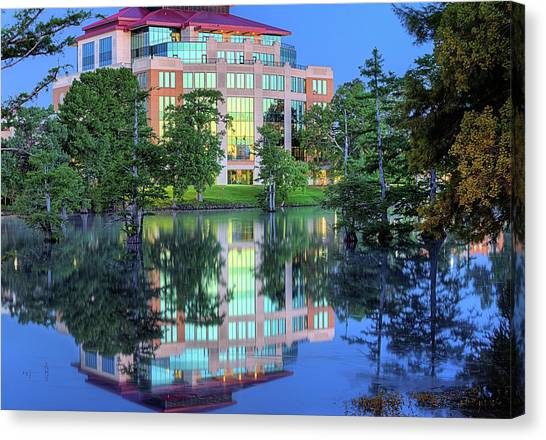Sun Belt Canvas Print - The Ulm Library  by JC Findley