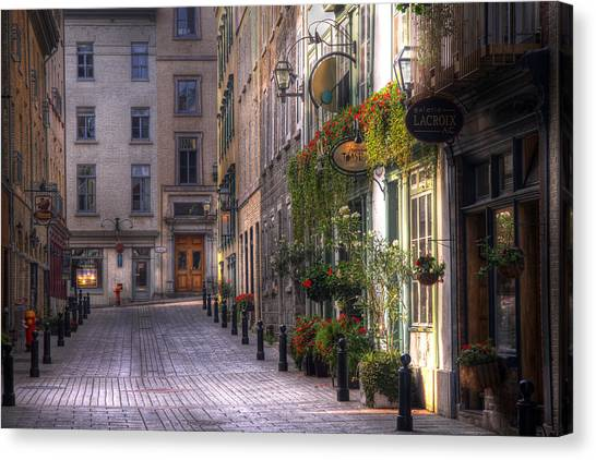 Quebec Canvas Print - The Unbearable Lightness Of Being  by Russell Styles