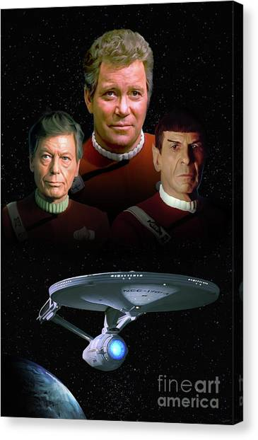 Starship Enterprise Canvas Print - The Undiscovered Country by Paul Tagliamonte