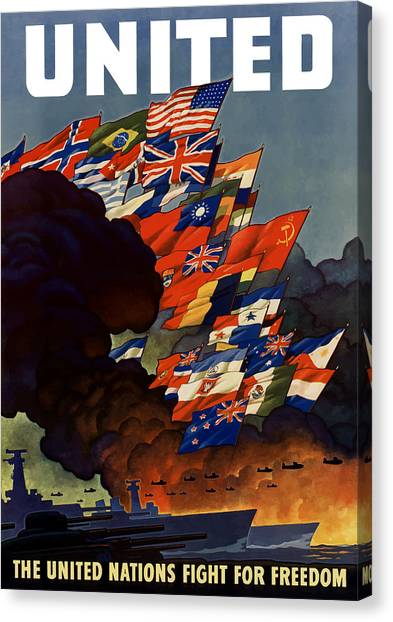 Ww1 Canvas Print - The United Nations Fight For Freedom by War Is Hell Store