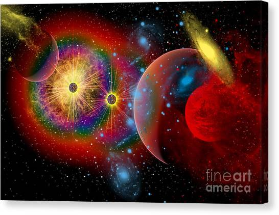 Portal Canvas Print - The Universe In A Perpetual State by Mark Stevenson