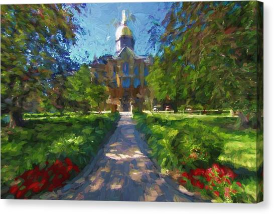 Notre Dame University Canvas Print - The University Of Notre Dame by Dan Sproul
