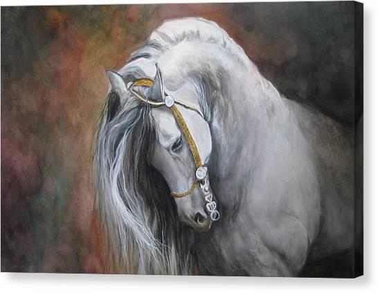 Horse Portrait Canvas Print - The Unreigned King by Nonie Wideman