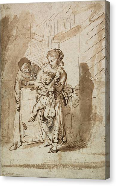 Baroque Canvas Print - The Unruly Child by Rembrandt