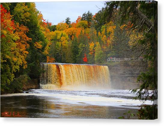 Canvas Print - The Upper Tahquamenon Falls by Michael Rucker