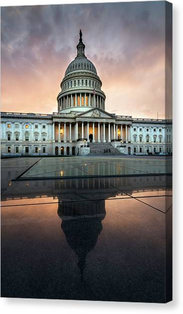 The Us Capital Canvas Print