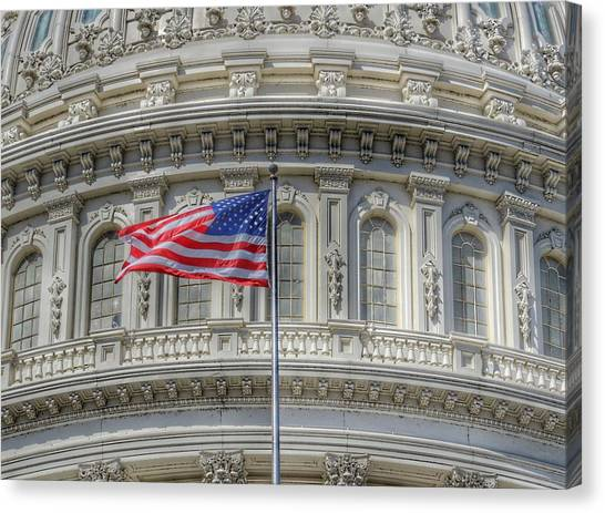 Capitol Building Canvas Print - The Us Capitol Building - Washington D.c. by Marianna Mills