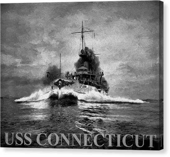 Rotc Canvas Print - The Uss Connecticut by JC Findley