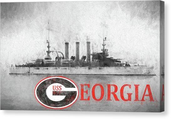 Rotc Canvas Print - The Uss Georgia by JC Findley