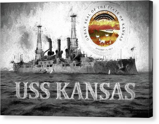 Rotc Canvas Print - The Uss Kansas by JC Findley