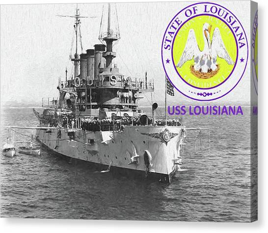 Rotc Canvas Print - The Uss Louisiana by JC Findley